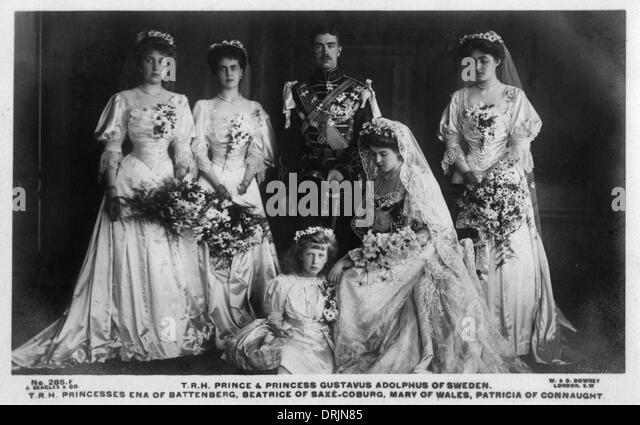 Prince & Princess Gustavus Adolphus of Sweden - Stock Image