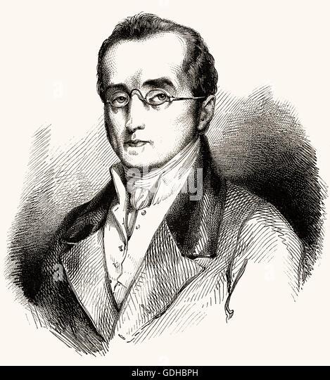 Silvio Pellico, 1789-1854, an Italian writer, poet, dramatist and patriot - Stock-Bilder