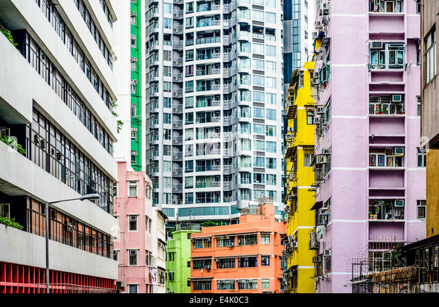 Abstract Buildings in Hong Kong, China. - Stock-Bilder