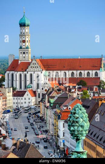 Augsburg, Germany old town skyline. - Stock-Bilder