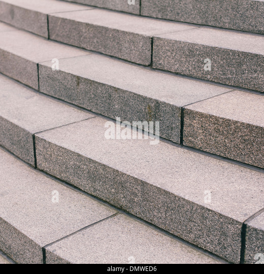 Stone steps in a city. - Stock Image