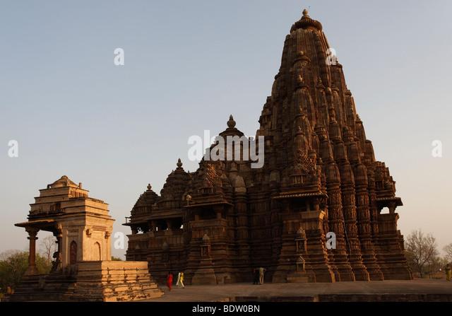 tempel von khajuraho, indien, temple in india, - Stock-Bilder
