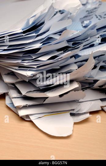 Opened mail envelopes - Stock Image