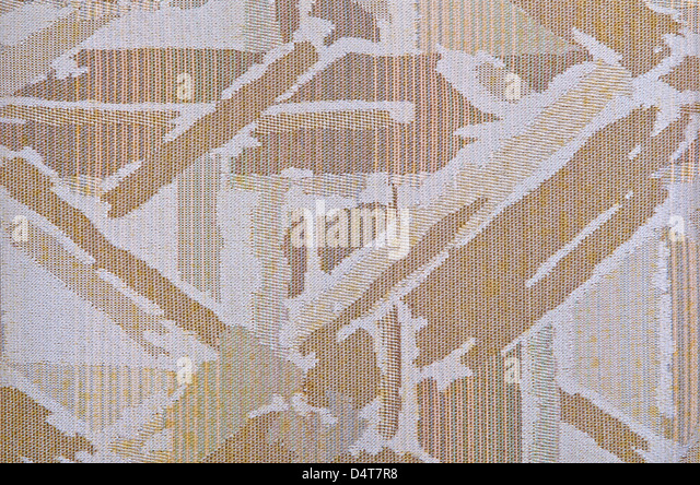 Textile background in earth tone colors - Stock Image