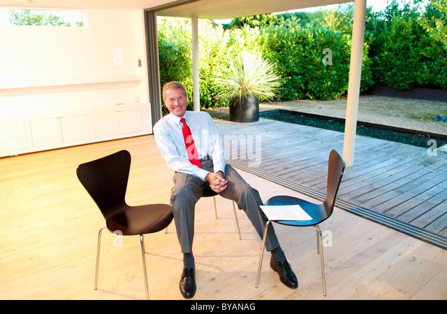 Happy senior business man - Stock Image