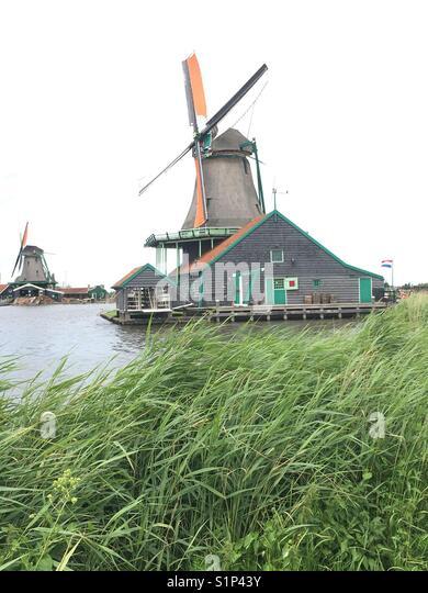Windmill, Edam, Netherlands - Stock Image
