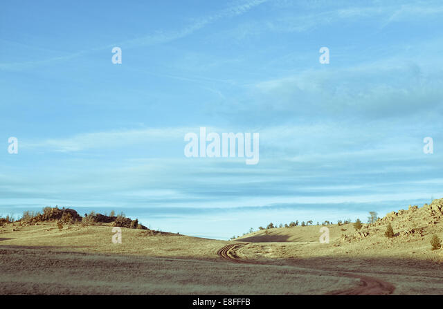 Isolated hills - Stock Image