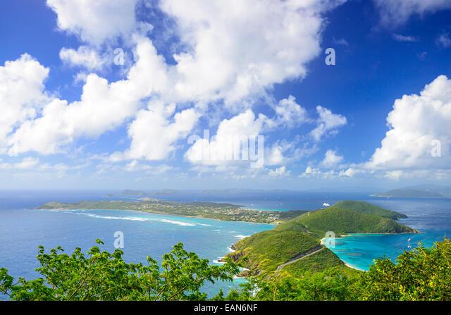 Virgin Gorda in the British Virgin Islands of the Carribean. - Stock Image