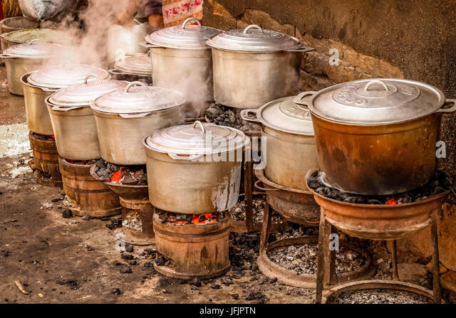 Wood Fire Cooking Africa Stock Photos Wood Fire Cooking