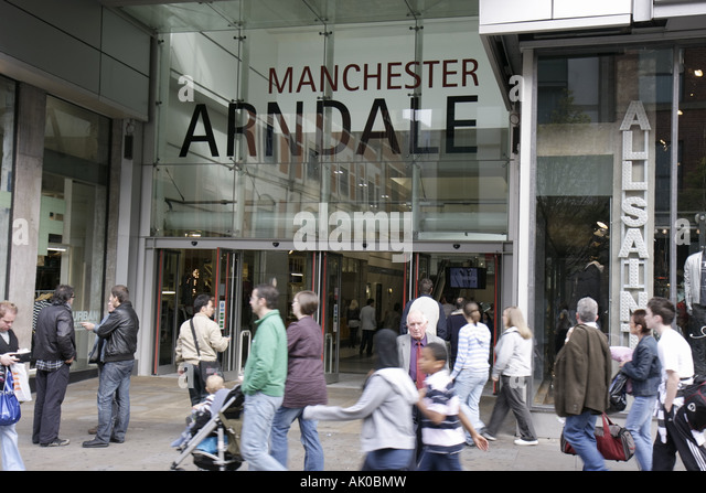 UK, England, Manchester, Market Street, Manchester Arndale, shopping mall, - Stock Image