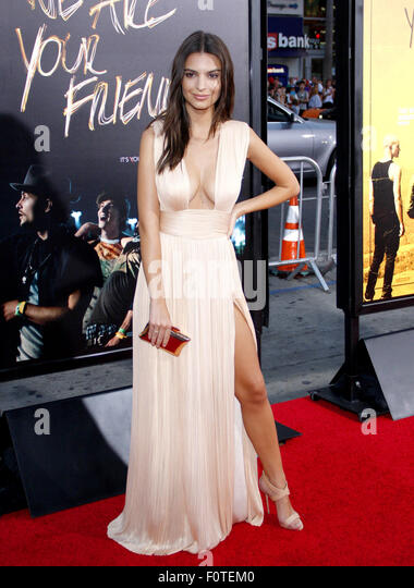 Emily Ratajkowski at the Los Angeles premiere of 'We Are Your Friends' held at the TCL Chinese Theater in - Stock Image