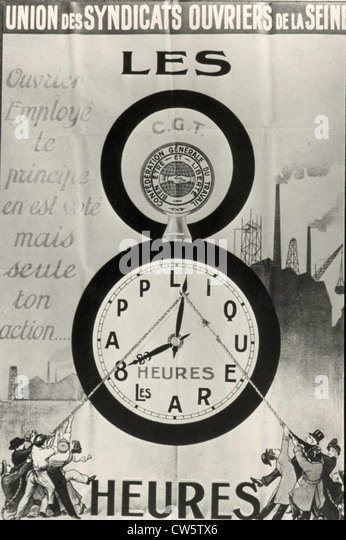 Poster of the Seine Workers Trade Union - Stock-Bilder