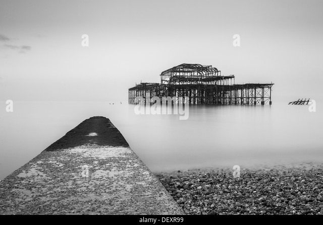 West Pier, Brighton, Sussex, England, United Kingdom, Europe - Stock Image