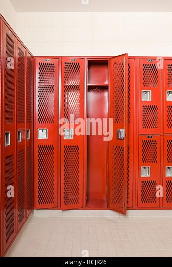 Empty locker room - Stock Image