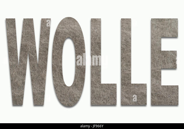 Wool Angora Wool in a font trained - Stock Image