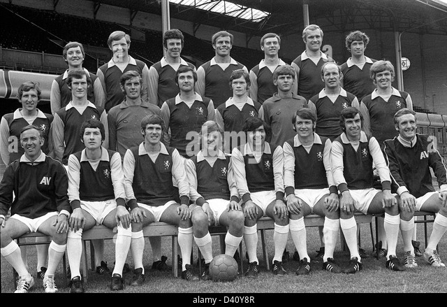 Aston Villa Football 1970 Team  David Rudge Barry Lynch Charles Aitken George Curtis Keith Bradley David Simmons - Stock Image