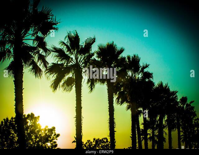 Tourism - San Diego Sun Set In Pacific Beach - Stock-Bilder
