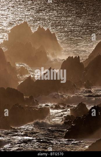 Rocky shore on Malin Head, Inishowen Peninsula, County Donegal, Ulster, Eire. - Stock-Bilder