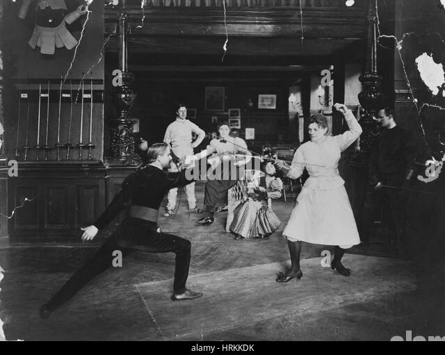 Fencing, 1908 - Stock Image