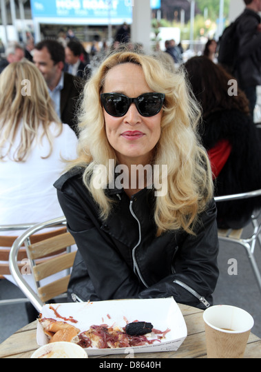 Jerry Hall, actress, model at the RHS Chelsea Flower Show 2013 - Stock-Bilder