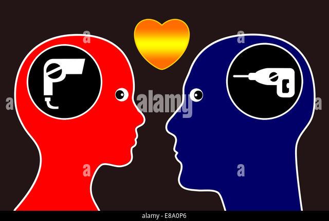 Opposites attract - Stock-Bilder