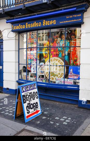 London Beatles Store on Baker Street in London England United Kingdom UK - Stock Image