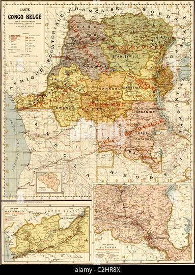 Belgian Congo - 1896 - Stock-Bilder