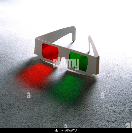 3D Cinema movie Glasses on textured background - Stock Image
