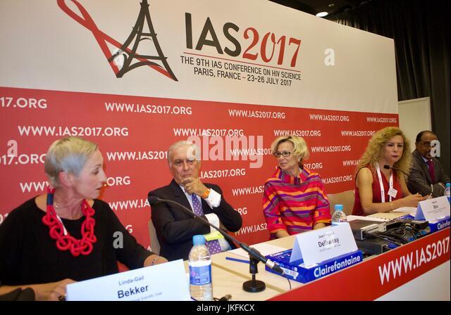 Paris, France, IAS, International AIDS Society Meeting, Linda-Gail Bekker, Desmond Tutu HIV Centre, South Africa - Stock Image