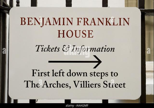 Benjamin Franklin house  London England - Stock Image