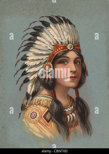 Native American Indian Beauty - Stock Image
