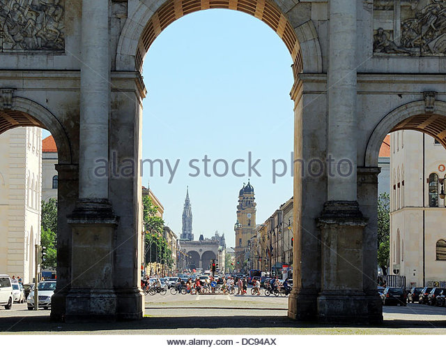 Munich ludwigstrae - Stock-Bilder