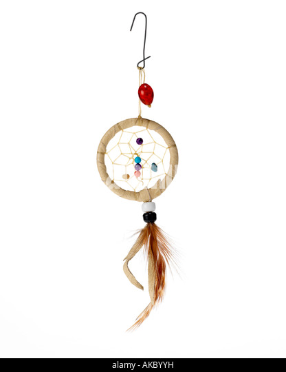 dream catcher Christmas ornament hanging on hook - Stock Image