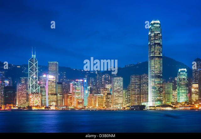 Hong Kong - Victoria Harbor - Stock Image
