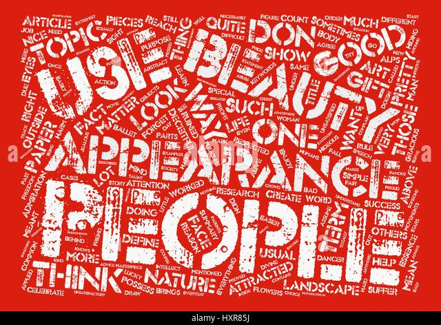 Appearances are Deceitful text background word cloud concept - Stock Image