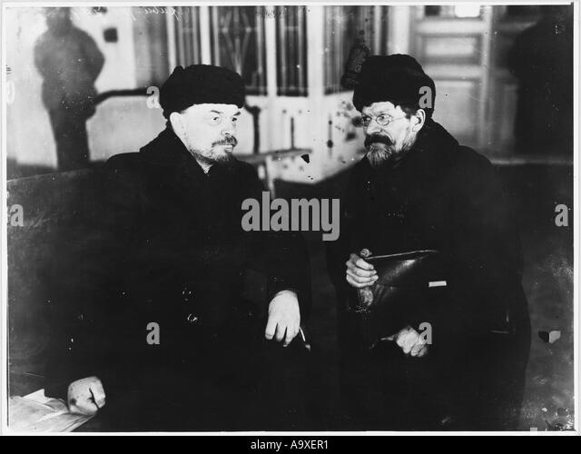 Lenin Kalinin 1920 - Stock Image