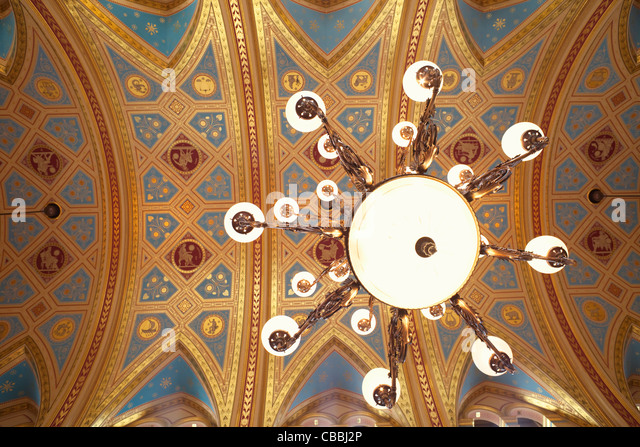 England, London, Whitehall, Foreign Office, The Locarno Reception Room - Stock Image