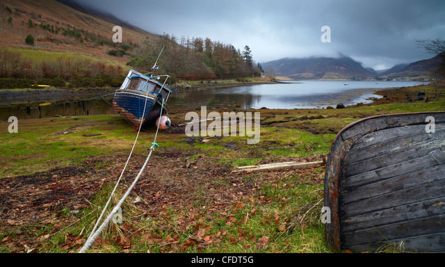 A moody,morning at Loch Long, Lochalsh, Scotland, United Kingdom, Europe - Stock Image