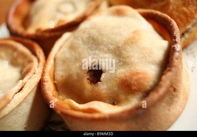 Scotch Pie,or mutton pie,a favorite Scottish 'fast food',found throughout the Lowlands and beyond. - Stock Image