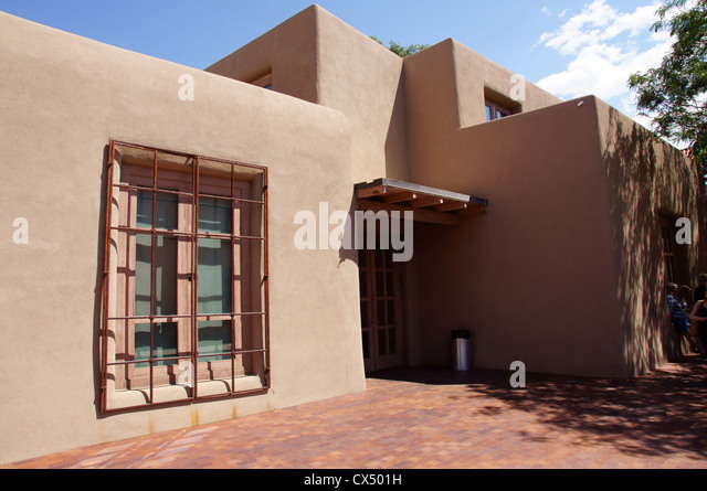 georgia o'keefe okeeffe museum santa fe new mexico nm classic historic modern masterpieces no people totto - Stock Image