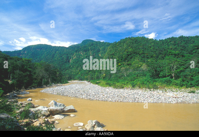Honduras Pico Bonito National Park Horizontal Cangrejal River - Stock Image