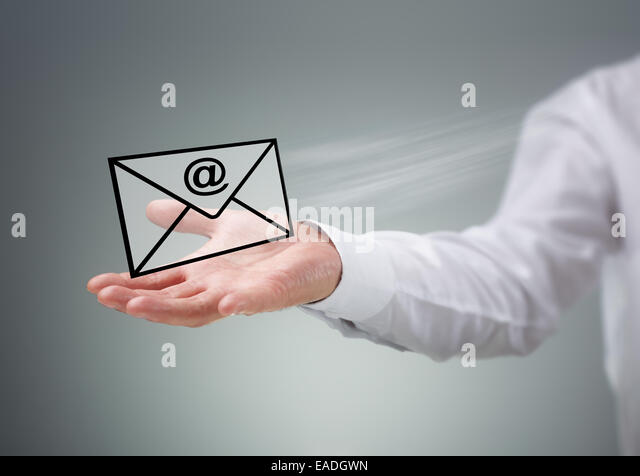 Contact us by e-mail - Stock Image