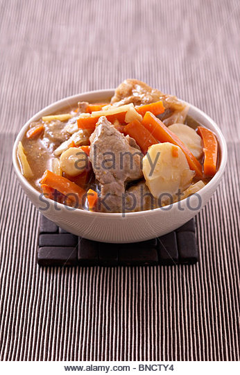 Veal carrot parsnip - Stock Image
