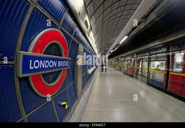 London  Bridge,  Metro , Station, Tube, - Stock Image