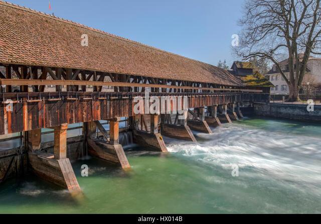 Upper Sluice, Thun, Berne, Switzerland - Stock-Bilder