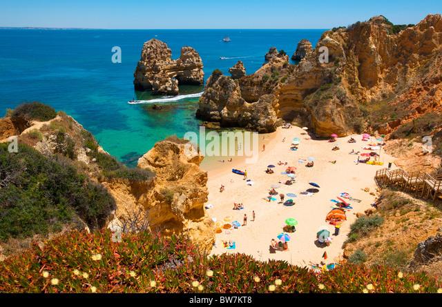 Praia do Camilo, Algarve, Portugal - Stock-Bilder