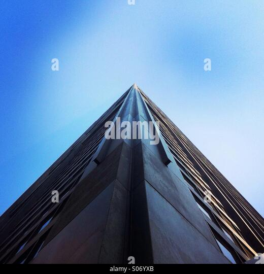 Looking up at the John Hancock building. Chicago Illinois, USA. - Stock Image