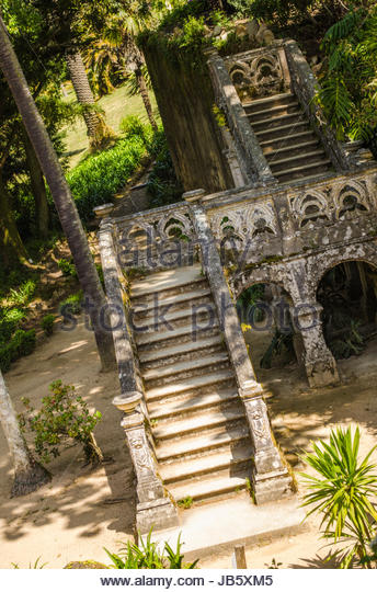Historical staircase in Portugal. - Stock Image
