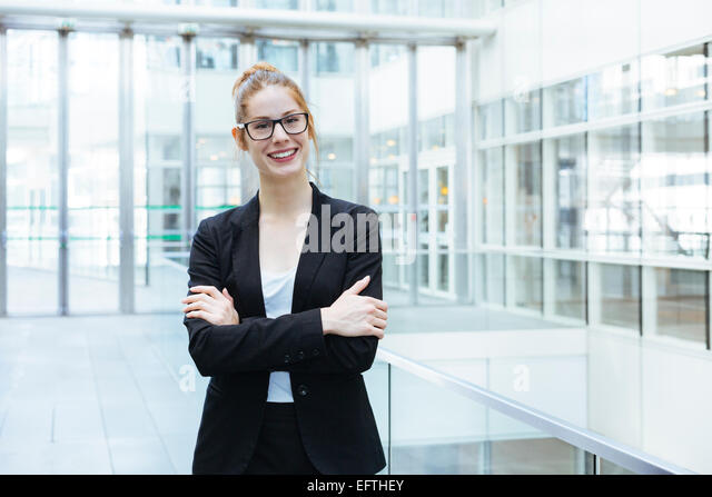 Portrait of businesswoman - Stock Image