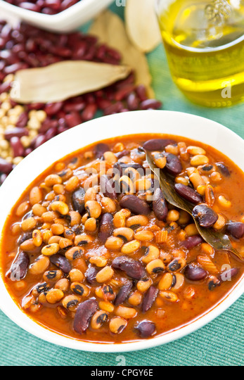 Bean stew - Stock Image